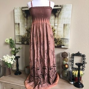 Lapis onesize beautiful glowing 2 toned maxi dress